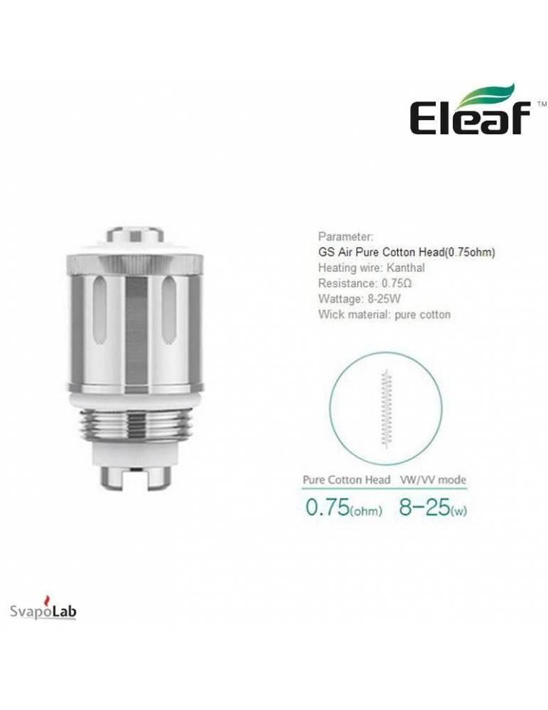Eleaf GS Air 2 dual coil 0,75ohm/8-25W (1 pz) per GS Air 2 serie