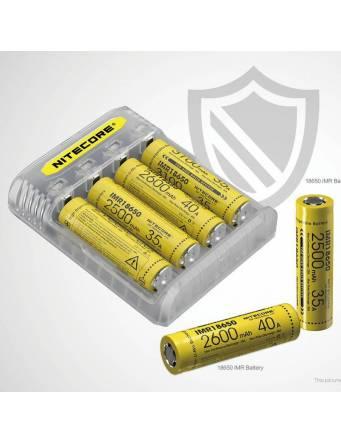 Nitecore Q4 charger 2A - vista con batterie