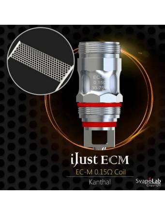 Eleaf iJUST ECM atomizer 4 ml (ø25mm), la resistenza EC-M