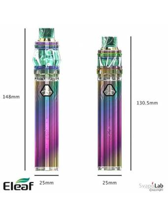 Eleaf iJUST 21700 kit con ELLO DURO 5,5ml (ø25mm), le dimensioni