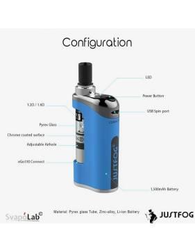 Justfog COMPACT14 kit 1500mah (con Q14), tutti i componenti