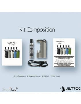 Justfog COMPACT14 kit 1500mah (con Q14), la confezione