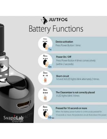 Justfog COMPACT14 kit 1500mah (con Q14), tutte le funzioni