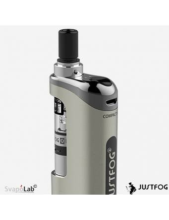Justfog COMPACT14 kit 1500mah (con Q14), color acciaio