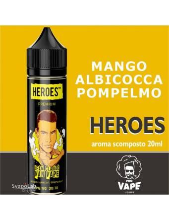 Pro Vape Heroes JEAN CLAUDE VAN VAPE 20 ml aroma scomposto