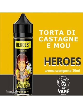 Pro Vape Heroes SILVESTER VAPELLONE 20 ml aroma scomposto