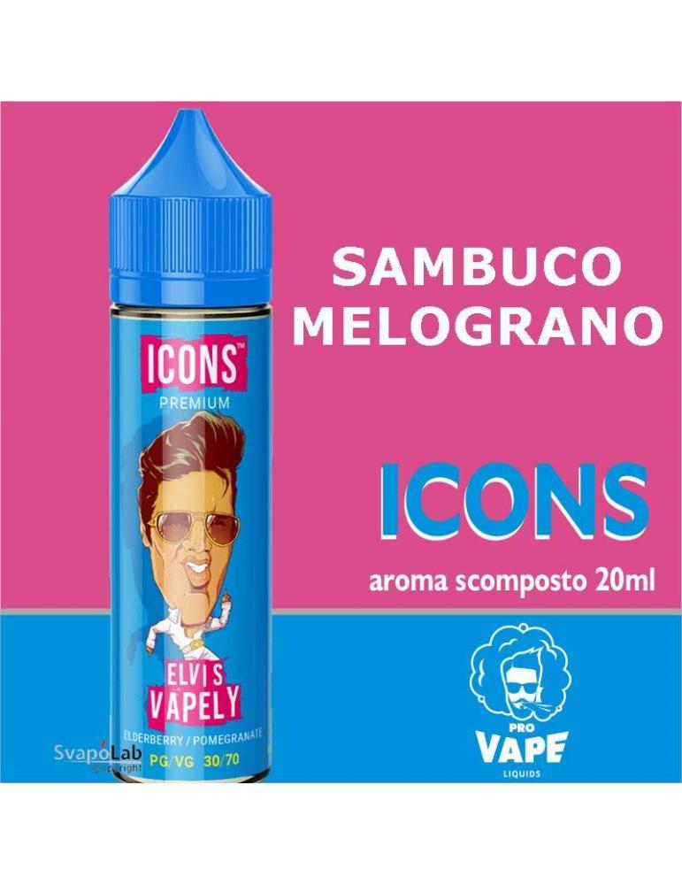 Pro Vape Icons ELVIS VAPELY 20 ml aroma scomposto