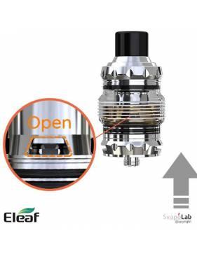 Eleaf MELO 5 atomizer 4 ml valvola aperta