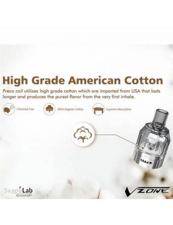 Vzone PRECO 2 MTL, il cotone della coil