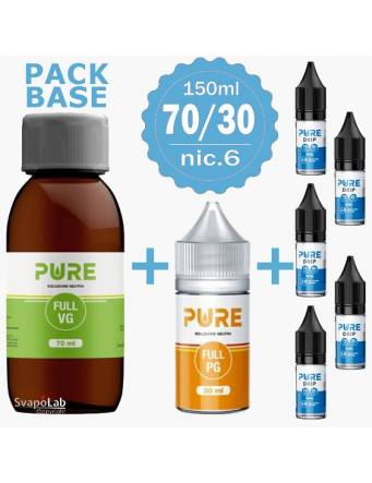 Pure pack BASE 70/30 - 150ml - nic.6 (con 5 Basi 10ml/18nic)