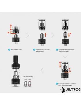 Justfog Q16 PRO kit 900mah - componenti