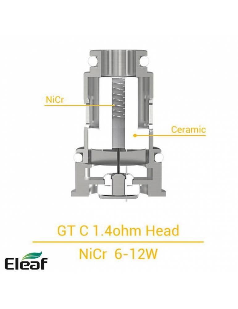 Eleaf GT-C coil Ceramic 1,4ohm/7-14W (1 pz)  per IJUST MINI e IJUST AIO