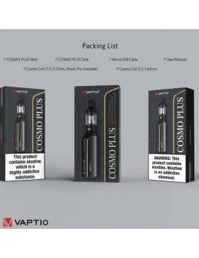 Vaptio COSMO PLUS kit 1500 mah contenuto