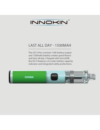 Innokin Go S MTL pen kit 1500mah-2ml (ø20mm) batteria