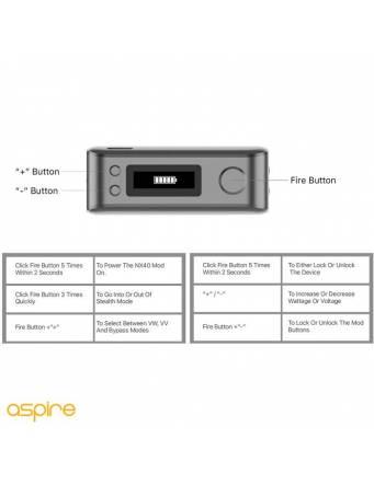 Aspire ROVER 2 kit 2200mah/40W - caratteristiche