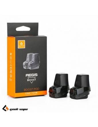 Geekvape AEGIS BOOST pod 3,7ml (2 pz – NO COIL) di ricambio - contenuto confezione