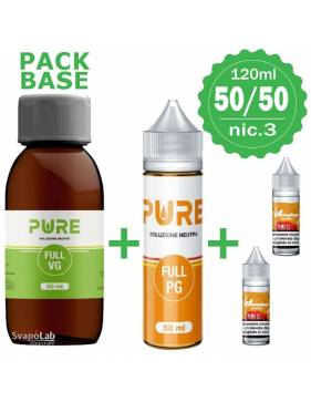 Pure pack BASE 50/50 - 120ml - nic.3 (con 2 Basi 10ml/18nic)