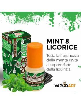 Vaporart MINT e LICORICE10ml liquido pronto