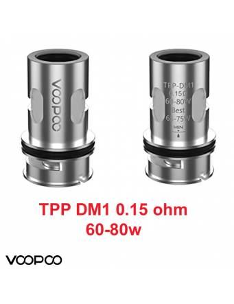 VooPoo TPP-DM1 coil mesh DTL 0,15ohm/60-80W (1 pz)